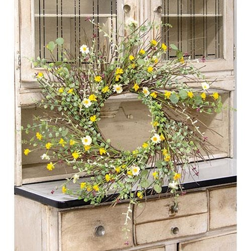 Yellow Wildflower Wreath