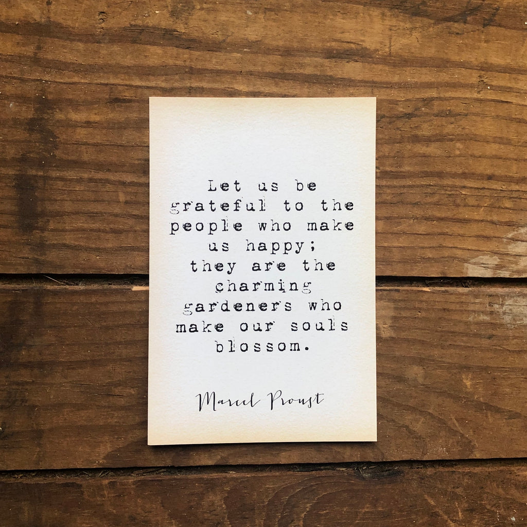 Quote Card - Proust