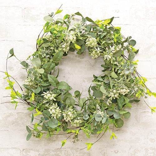 Mixed Floral & Greenery Wreath
