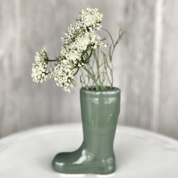 Boot Vase with/without Floral LOCAL ONLY