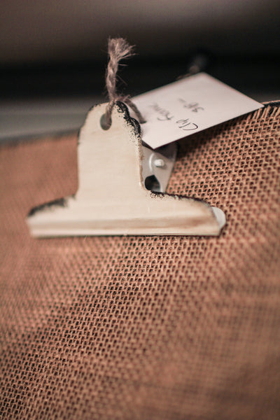 Burlap Photo Clip Board, Vertical
