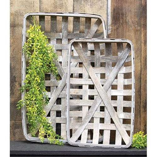 Weathered Grey Tobacco Basket Set