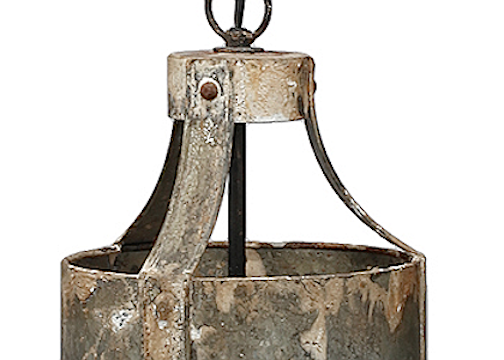Aged Metal Pendant Light