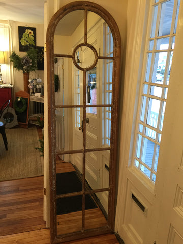 mirror distressed wood tall