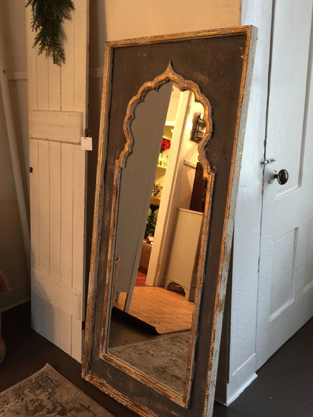 Artistically Painted Wood Framed Mirror