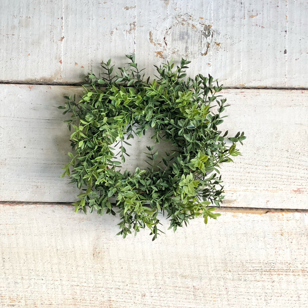 Boxwood Candle Ring - LOCAL ONLY