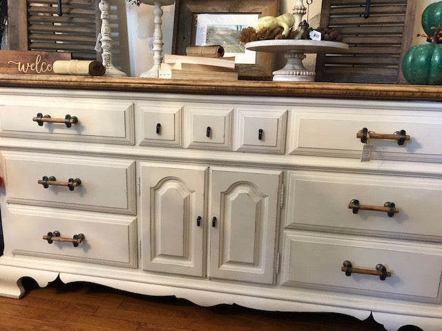 White Wood Dresser/Buffet Table