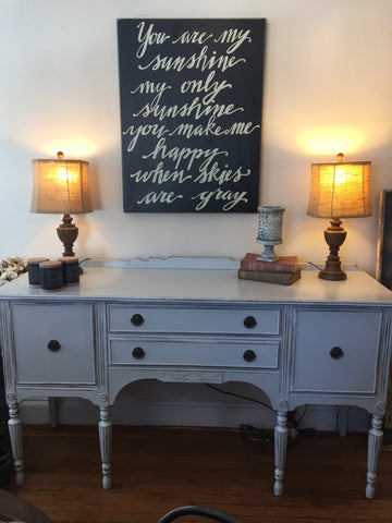 Paris Grey Distressed Sideboard Buffet