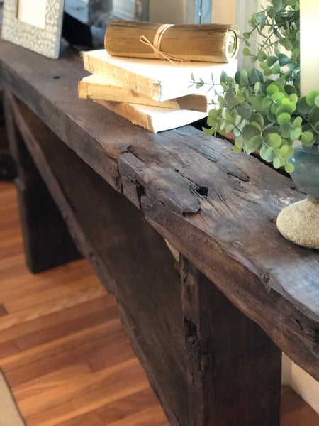 Salvaged Beam Console Table
