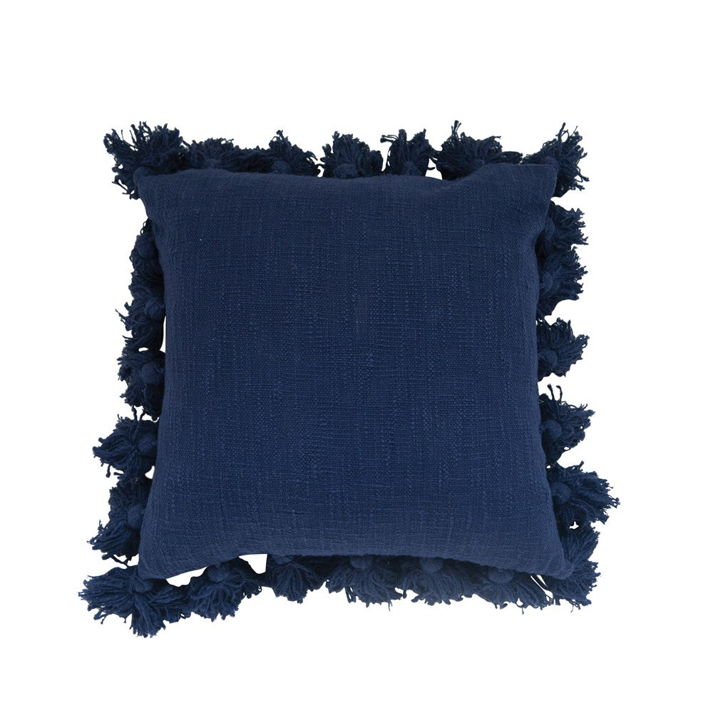 Navy Pom Pillow LOCAL ONLY