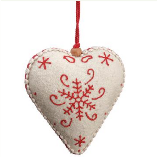 Felt Heart Ornament LOCAL ONLY