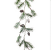 Iced Pine Cone/Pine Garland LOCAL ONLY
