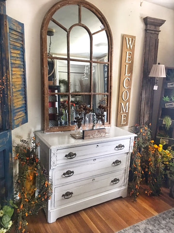 Antique Light Grey Dresser/Console