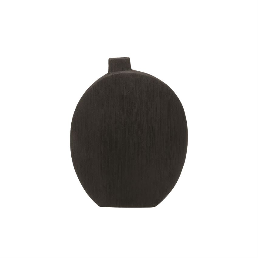 Textured Black Vase LOCAL ONLY