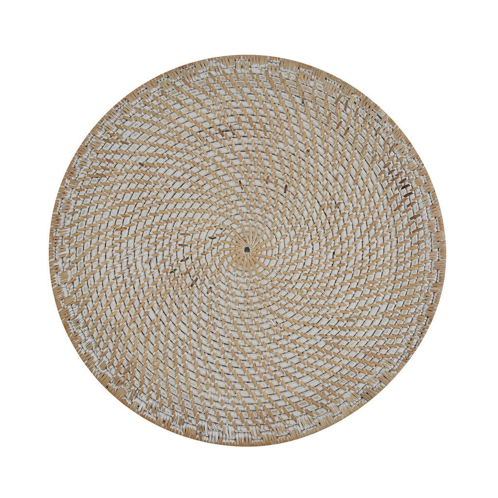 White Rattan Charger LOCAL or SHIP