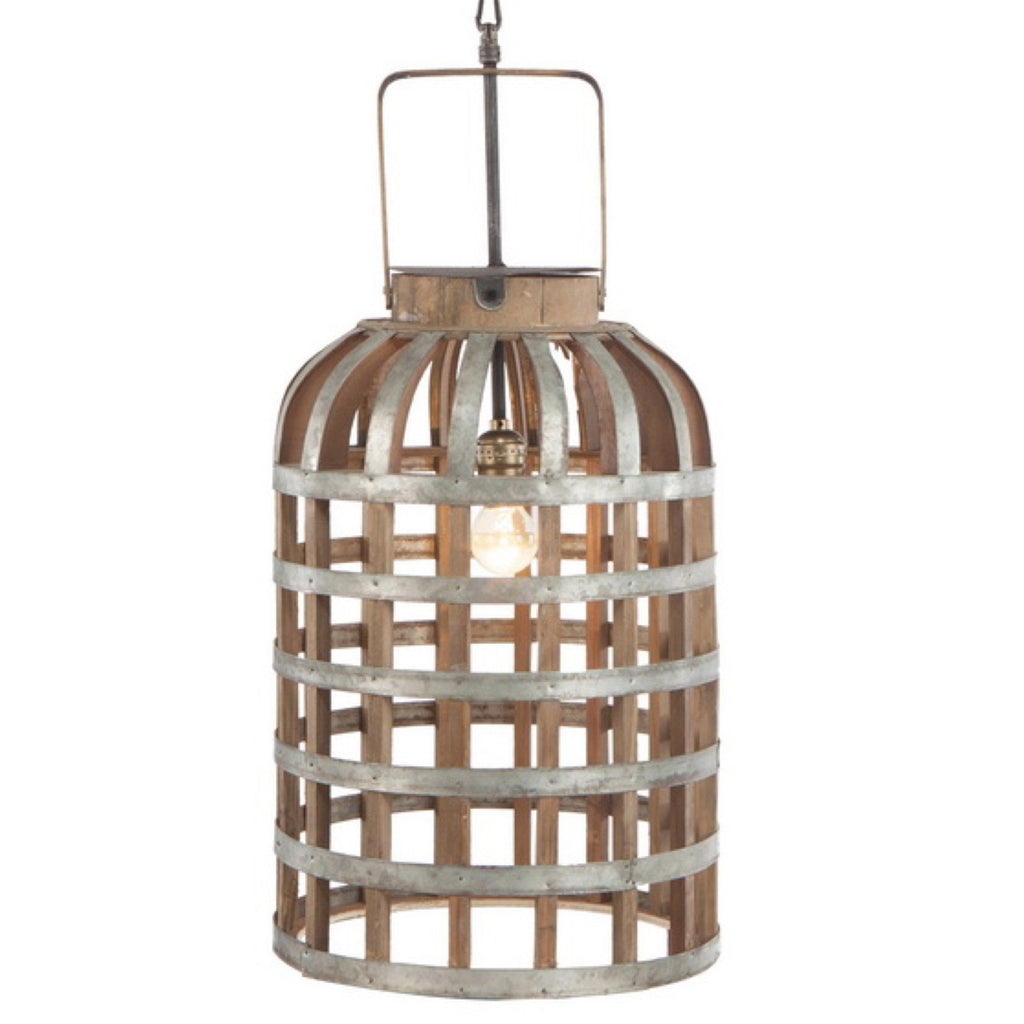 Wood & Metal Woven Chandelier