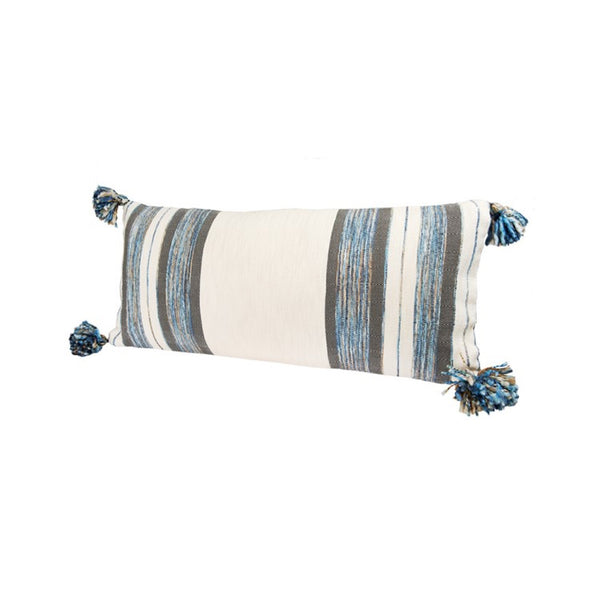 Wool Stripe Lumbar Pillow