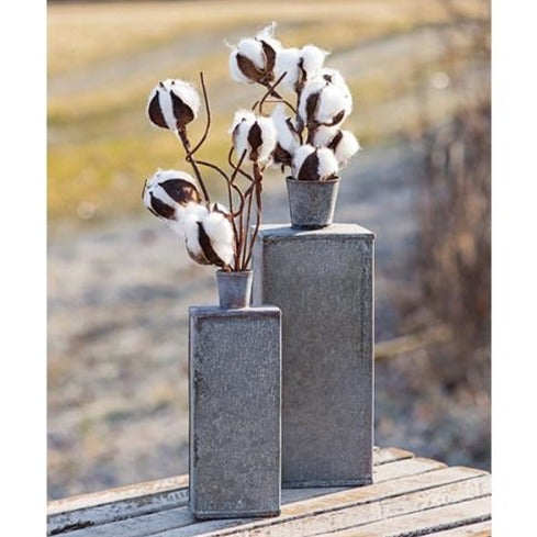 Galvanized Bottle Vase Set