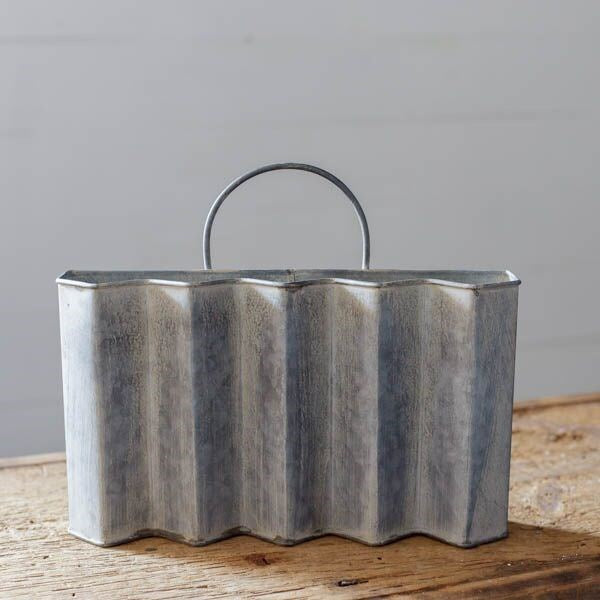 Galvanized Wall Pocket LOCAL ONLY