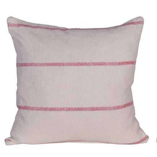 Red & Cream Stipe Pillow LOCAL ONLY