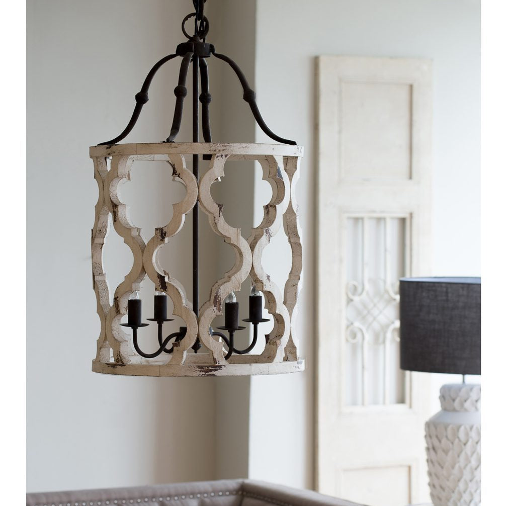 Distressed Barrel Chandelier LOCAL ONLY