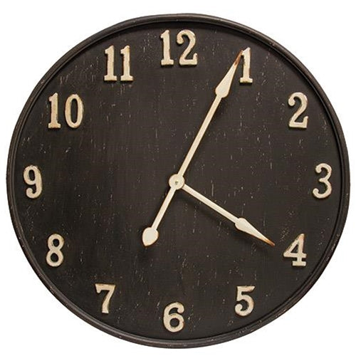 Rustic Black Metal Clock