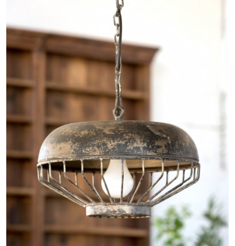 Metal Industrial Pendant Light Chandelier Aged Rustic