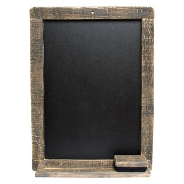 Distressed Wood Chalkboard & Eraser