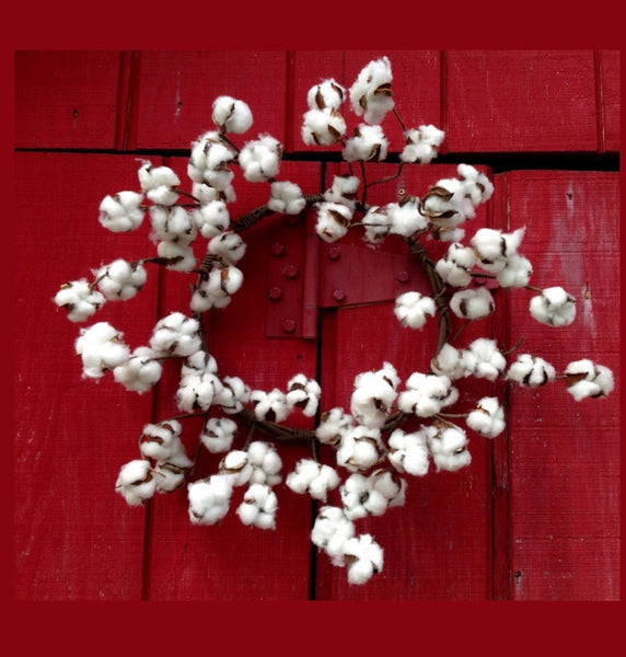 cotton wreath, farmhouse decor, rustic decor, shabby chic decor