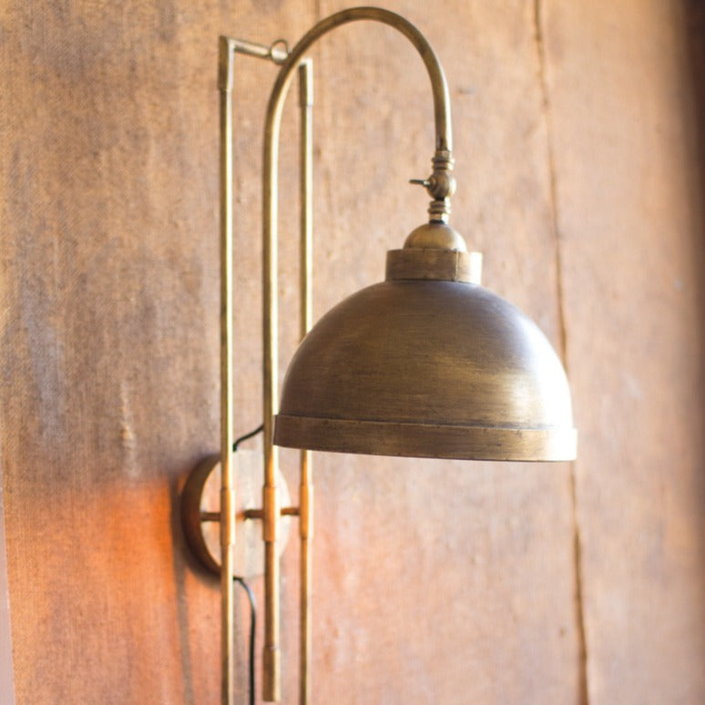 Antiqued Brass Wall Sconce