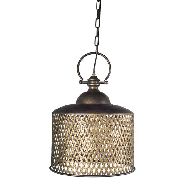 Metal Basketweave Pendant