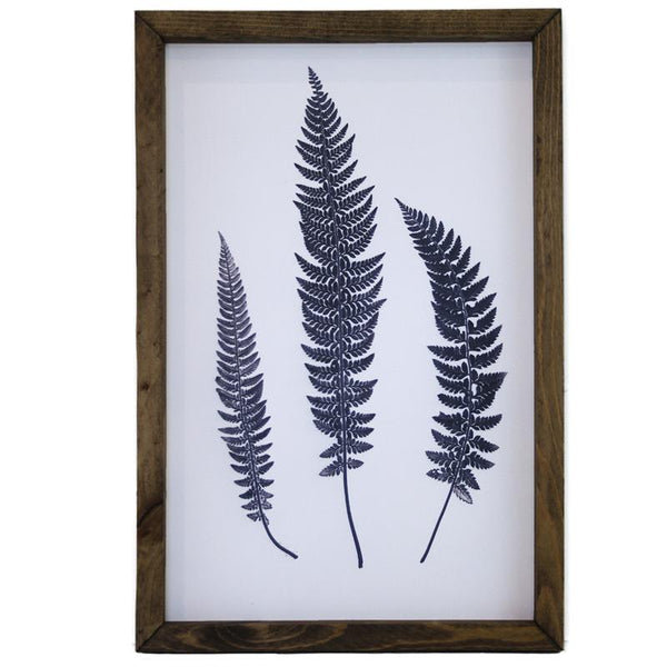 Blue Fern Framed Art #3 LOCAL ONLY
