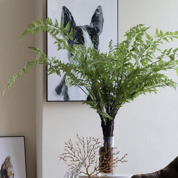 Faux Wood Fern Plant