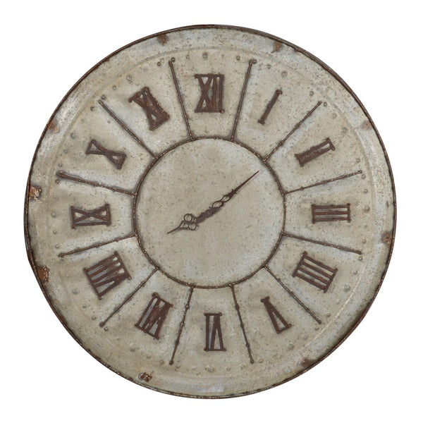 Distressed Metal Clock