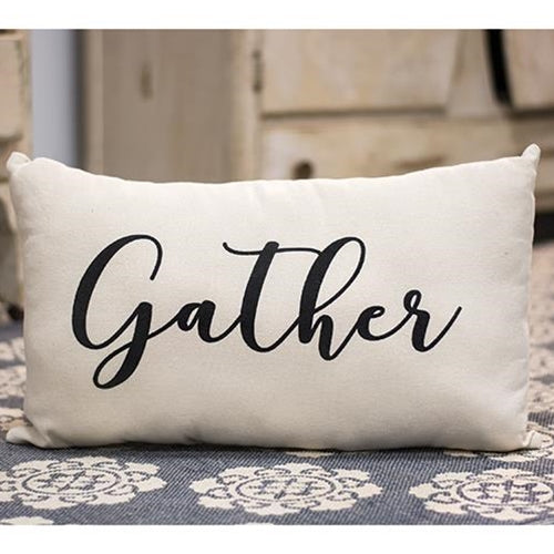 "Cotton ""Gather"" Pillow"