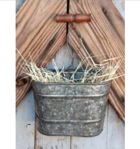 Steel Planter Hanging Metal Galvanized