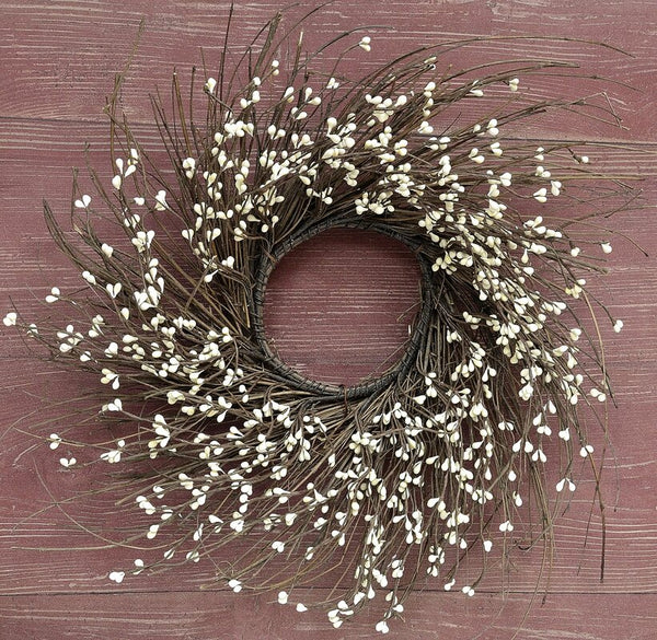 Cream Berry Twig Wreath, Small