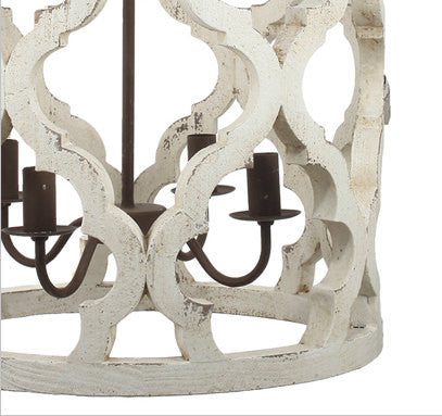 IN STORE ONLY - Distressed Barrel Chandelier