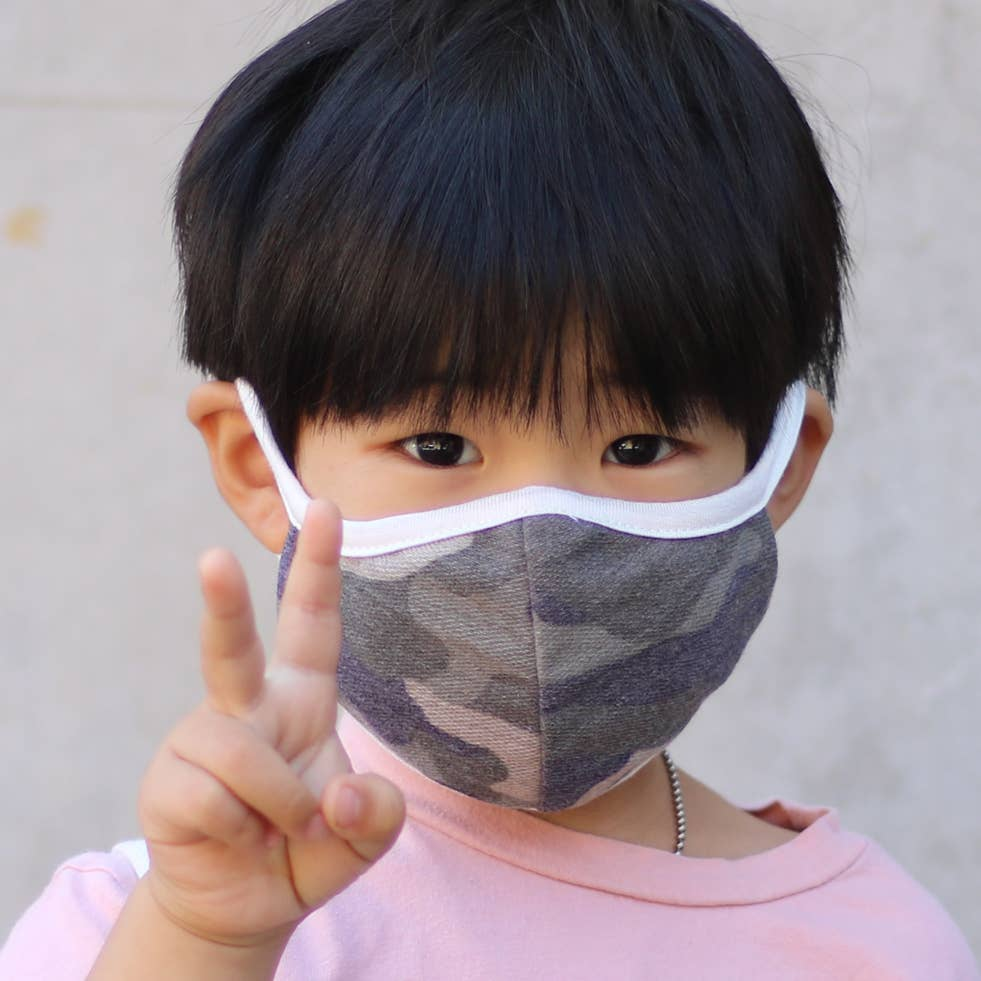 Child Camo Face Mask LOCAL ONLY