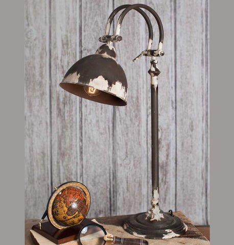 table lamp distressed