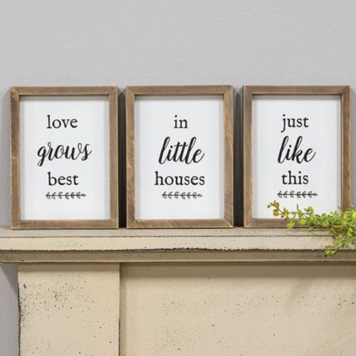 Love Grows Best, 3 Piece Sign