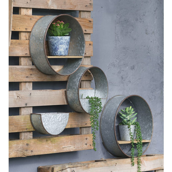 Galvanized Metal Wall Set