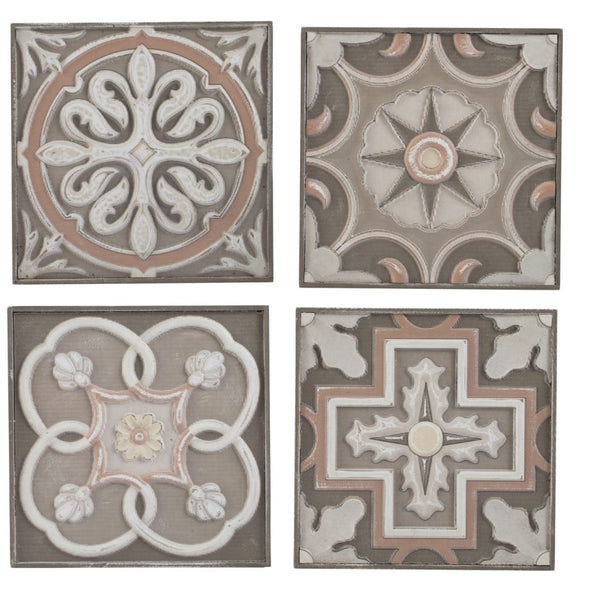 Hand-Carved Wood Tile Set
