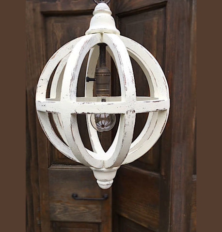 Painted Mahogany Pendant Light