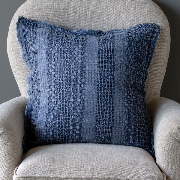 Indigo Textured Pillow LOCAL or SHIP