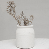 White Textured Vase LOCAL ONLY