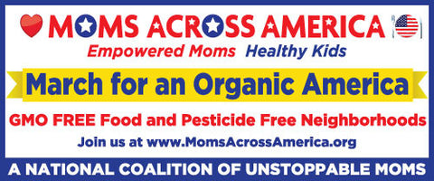 March for An Organic America Banner