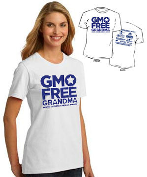 GMO Free Grandma Ladies T-shirt - Moms Across America