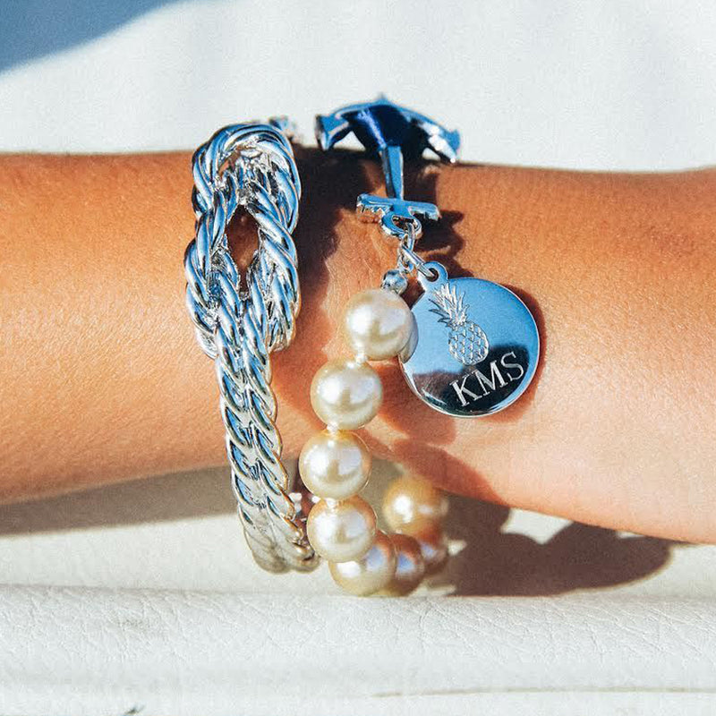 Charlotte Monogram - Kiel James Patrick Anchor Bracelet Made in the USA