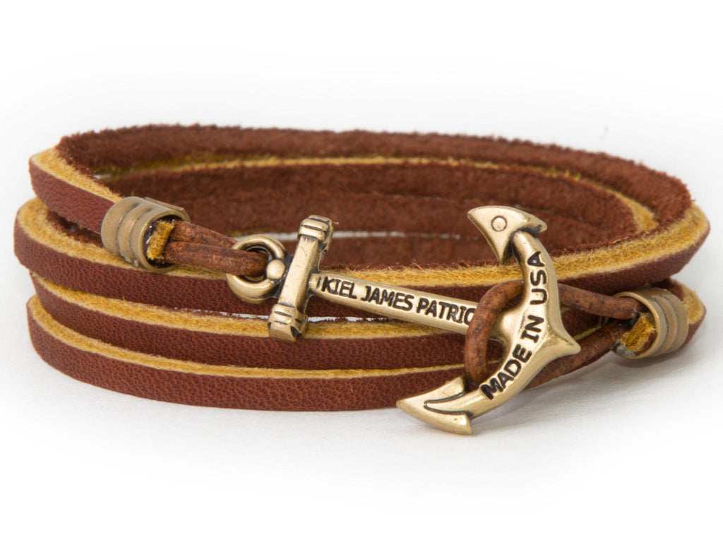 Adirondack Trail - Kiel James Patrick Anchor Bracelet Made in the USA
